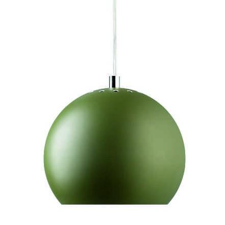 LAMPA WISZĄCA BALL ZIELONA MATOWA 18 CM FRANDSEN