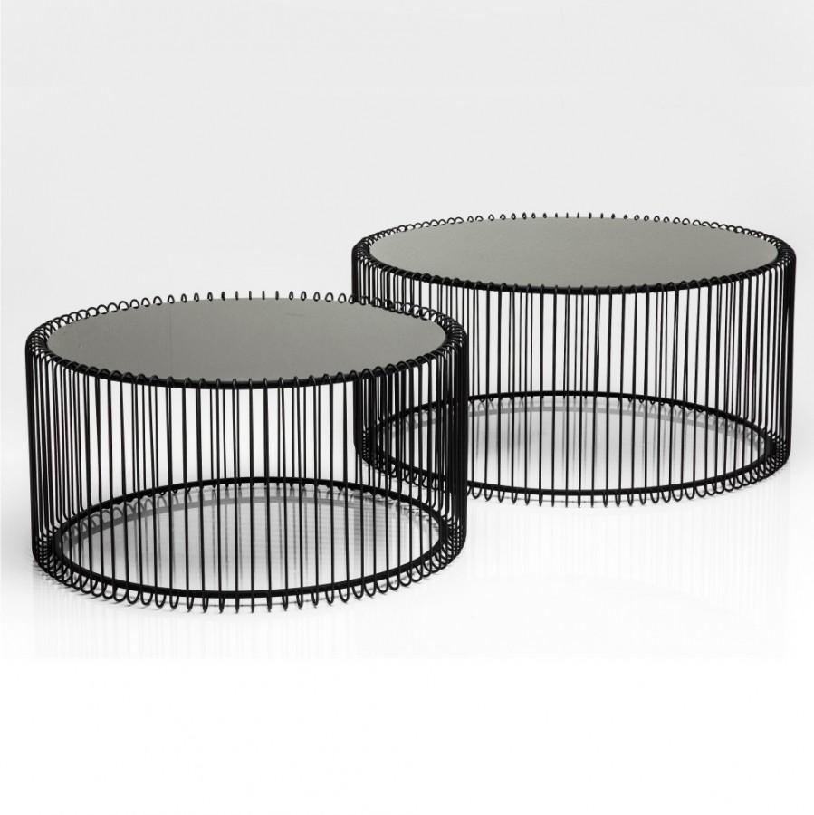 Stolik Kawowy Wire Black 2 Set Kare Design Design Concept