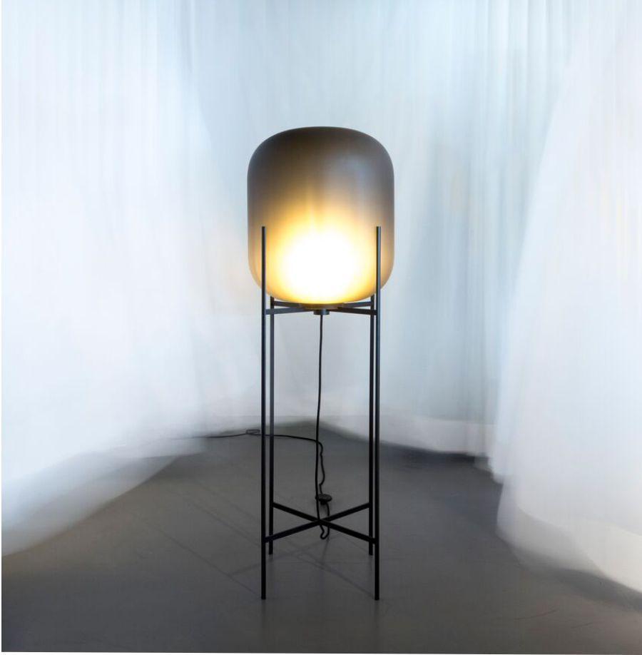 LAMPA PODŁOGOWA ODA DUŻA BIAŁO-CZARNA PULPO
