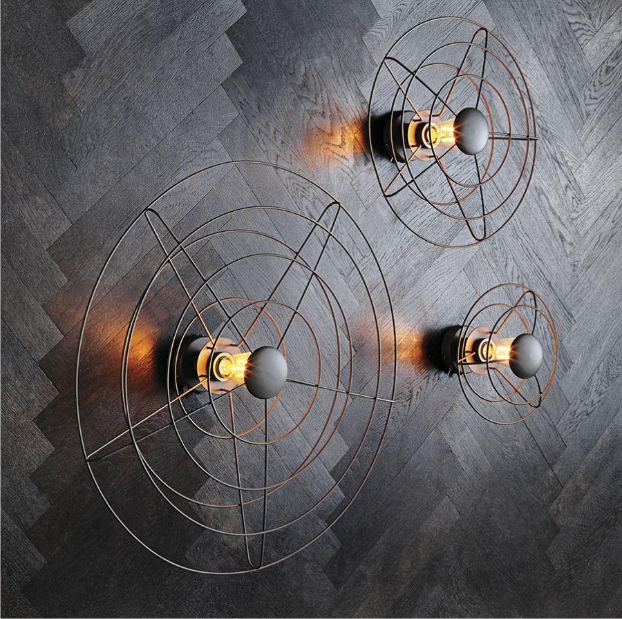 LAMPA ŚCIENNA RADIO 28 cm WATT A LAMP