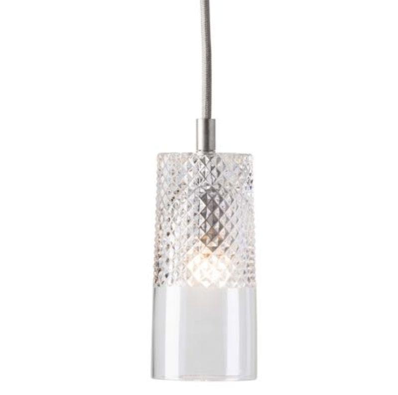 LAMPA WISZĄCA CRYSTAL BATES SILVER EBB&FLOW