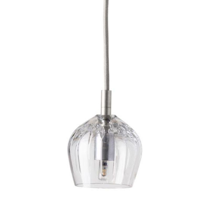 LAMPA WISZĄCA CRYSTAL COGNAC SILVER EBB&FLOW
