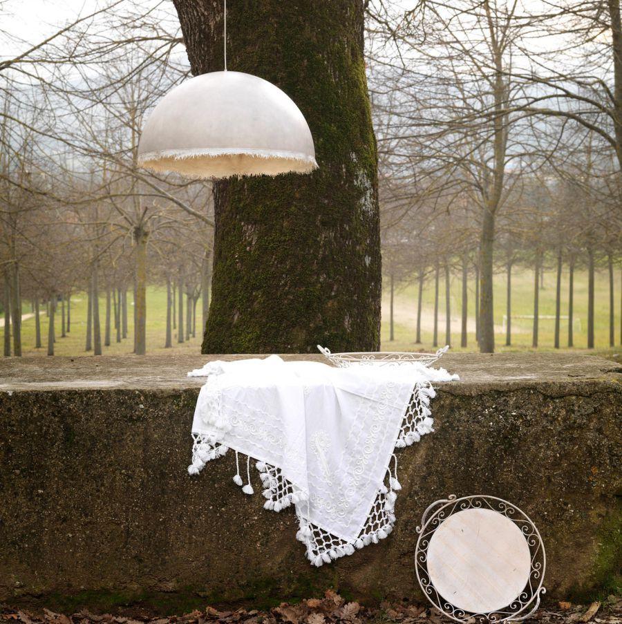 LAMPA WISZĄCA PLANCTON BIAŁA 45 CM OUTDOOR KARMAN