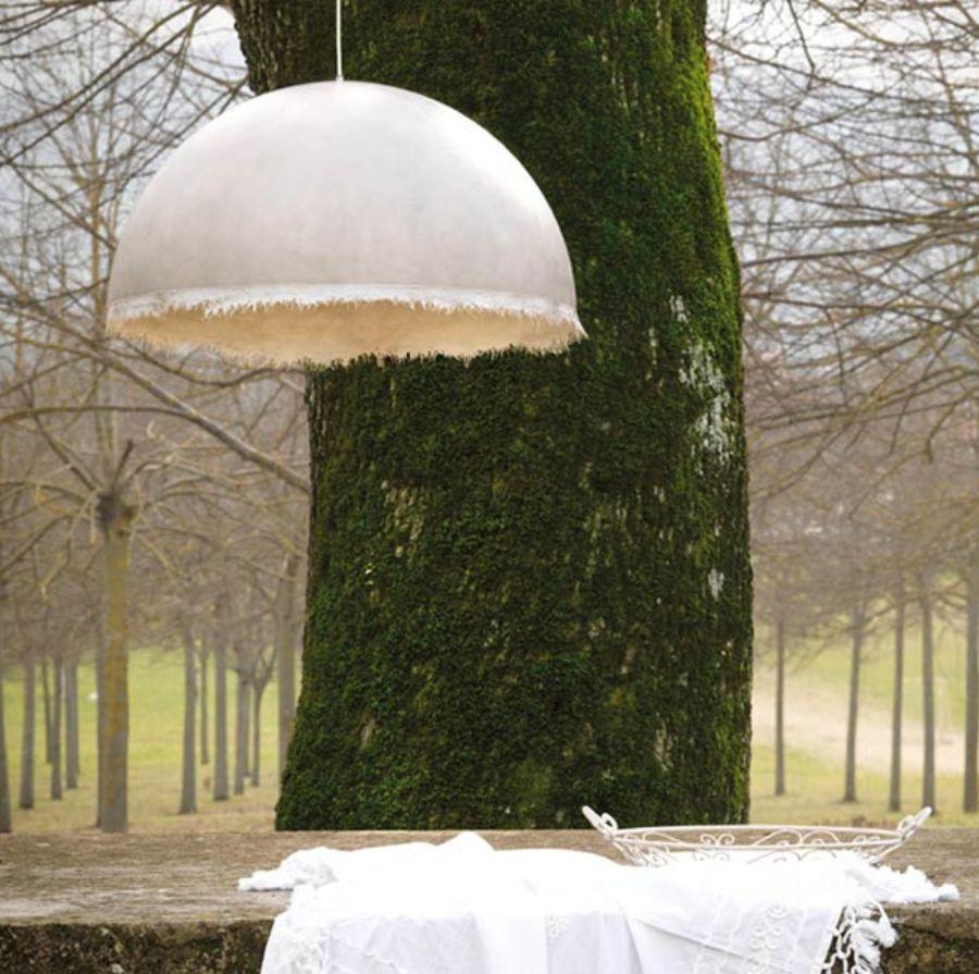 LAMPA WISZĄCA PLANCTON BIAŁA 75 CM OUTDOOR KARMAN