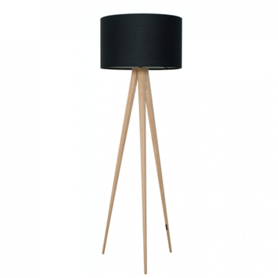 Lampa Podłogowa Heavy Wood Black Nowoczesne Meble Design