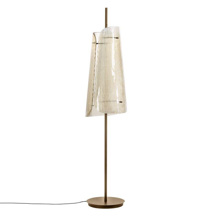 Lampa podłogowa Bent two przydymiona szara-szampańska Pulpo