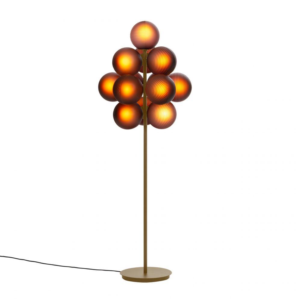Lampa podłogowa Stellar duża oberżyna Pulpo