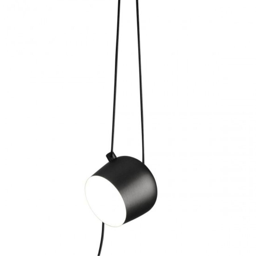 Lampa wisząca AIM Z PRZEWODEM I WTYCZKĄ czarna Flos