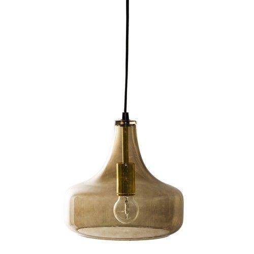 LAMPA WISZ¡CA BROWN GLASS BLOOMINGVILLE
