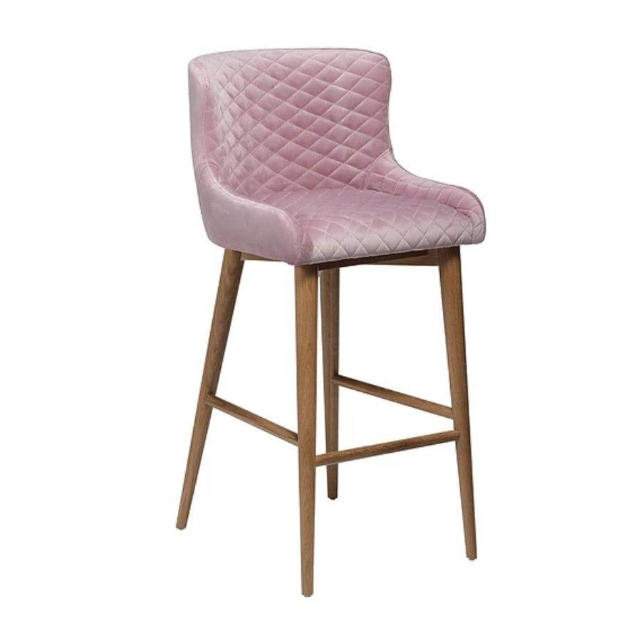 Krzesło Barowe Mauro Różowe Nowoczesne Meble Design