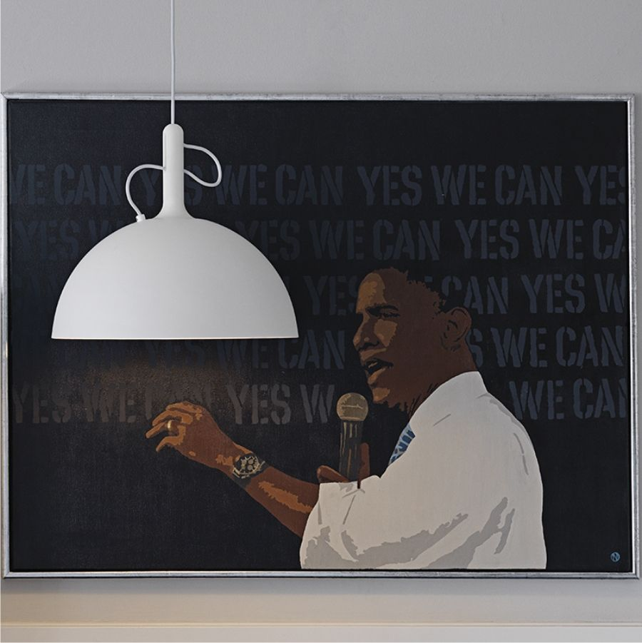 LAMPA WISZĄCA ADJUSTABLE DUŻA NIEBIESKA WATT A LAMP