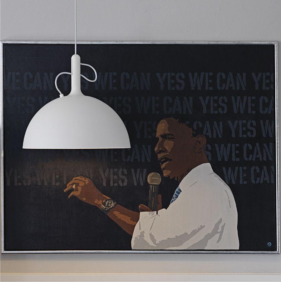 LAMPA WISZĄCA ADJUSTABLE DUŻA ŻÓŁTA WATT A LAMP