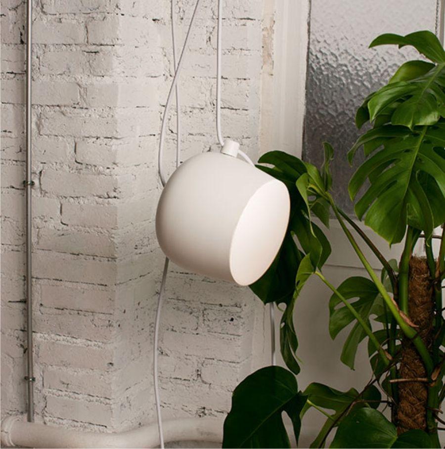 Lampa wisząca AIM SMALL Z PRZEWODEM I WTYCZKĄ biała Flos