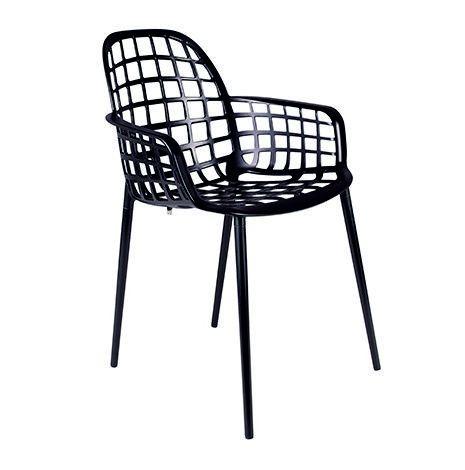 Krzes³o ogrodowe nobbs czarne