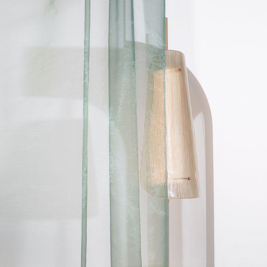 Lampa podłogowa Bent one przydymiona szara-szampańska Pulpo