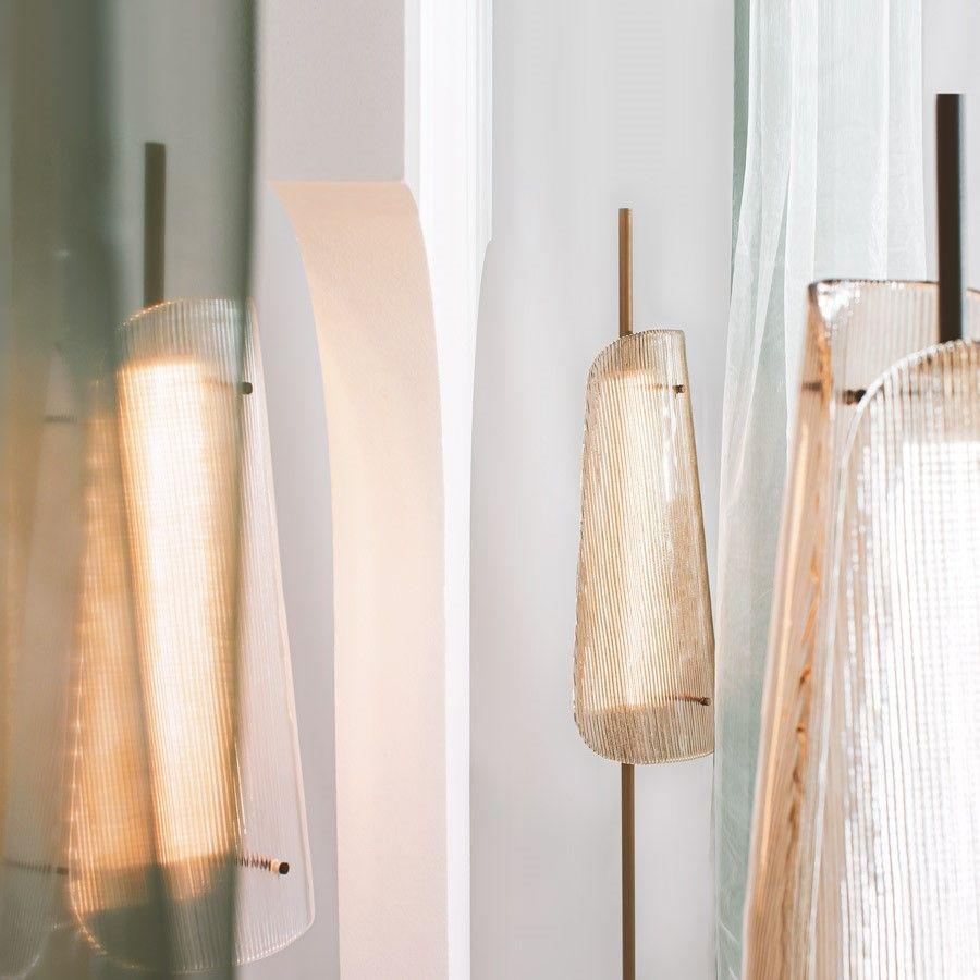 Lampa podłogowa Bent one transparentno-szampańska Pulpo