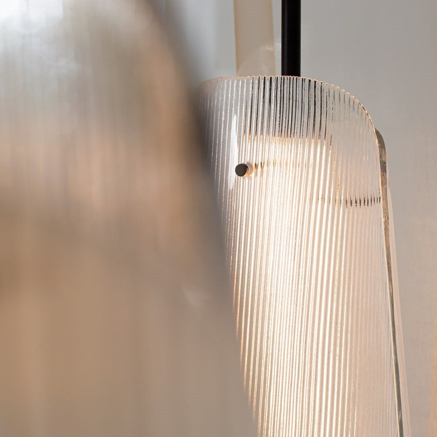 Lampa podłogowa Bent two transparentna-szampańska Pulpo