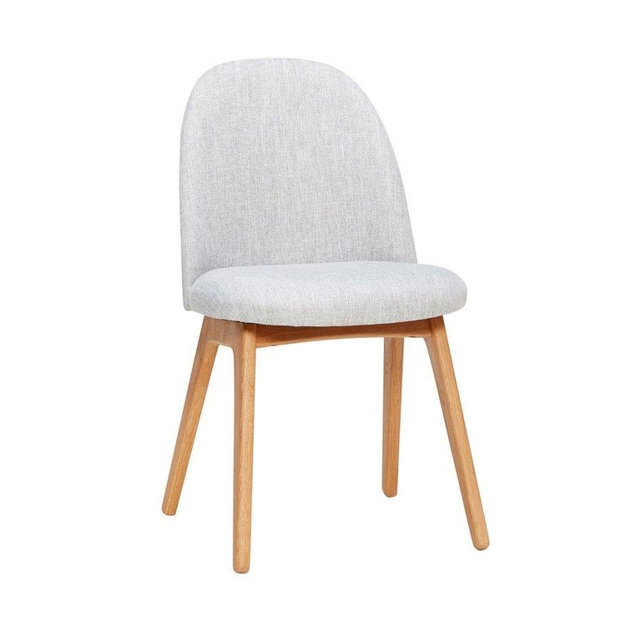 krzes³o dêbowe jasnoszare HUbsch