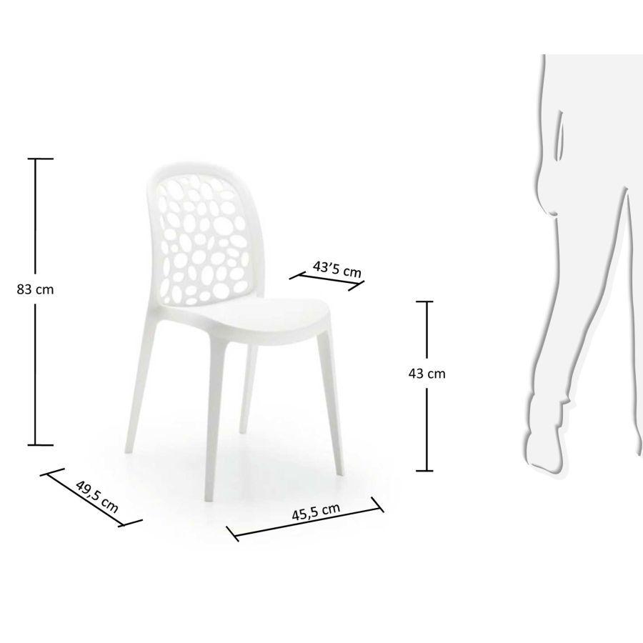 Krzesło Ogrodowe Messina Białe La Forma Design Concept
