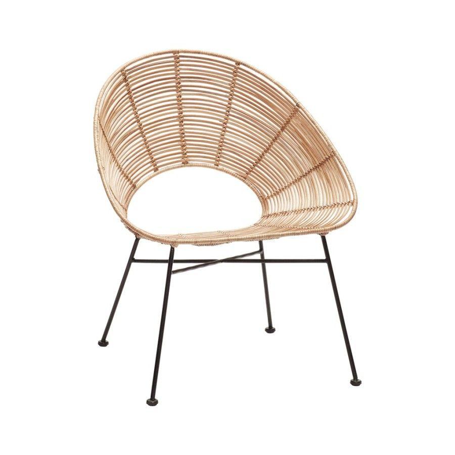 krzes³o rattanowe okr±g³e naturalne HUbsch