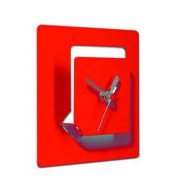 WALL CLOCK 4D RED PULPO