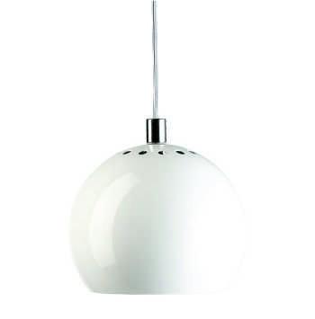 LAMPA WISZĄCA BALL BIAŁA WYSOKI POŁYSK 18 CM FRANDSEN