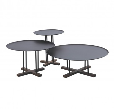 CLARK BLACK COFFEE TABLE - 3 SET