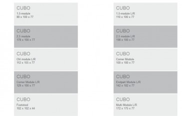 SOFA CUBO DAY 2,5 and C and EP FURNINOVA