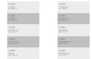 SOFA CUBO NIGHT 2,5 and C and EP FURNINOVA