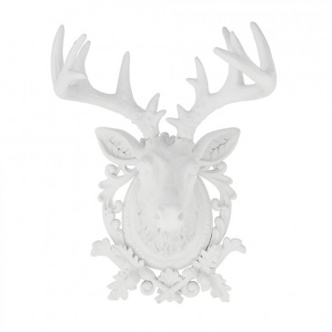 DECO FIGURINE DEER WHITE