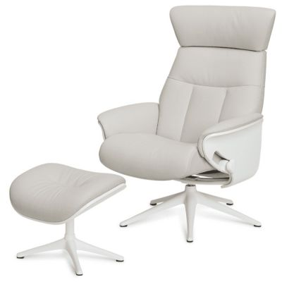 SENSE TREND WHITE LEATHER WHITE BASE CHAIR FLEXLUX