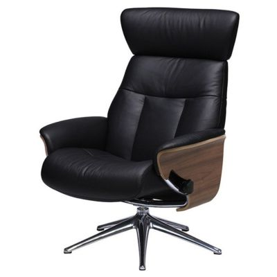 SENSE TREND BLACK LEATHER CHAIR FLEXLUX