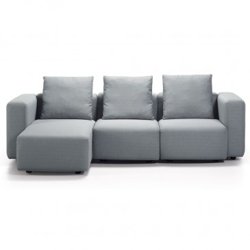 SOFA MODULE 3-SEATER GREY