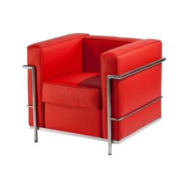 FOTEL BUSCA LEATHER RED