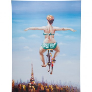 OBRAZ OLEJNY TOUCHED BICYCLE GIRL KARE DESIGN