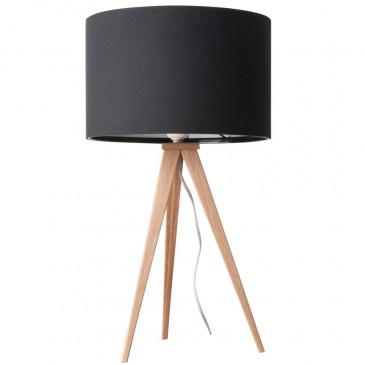 LAMPA STO£OWA HEAVY WOOD BLACK