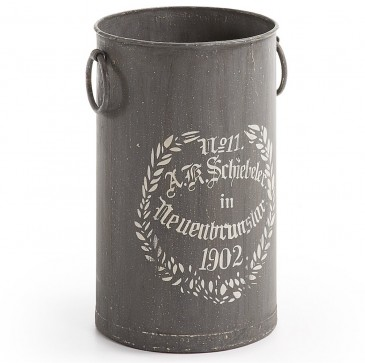 DECORATIVE CONTAINER CAMPIOFIORE METAL DARK GREY