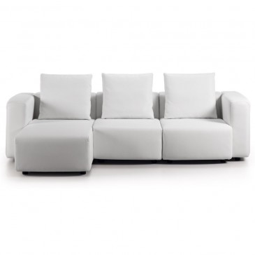 SOFA MODULE 3-SEATER WHITE