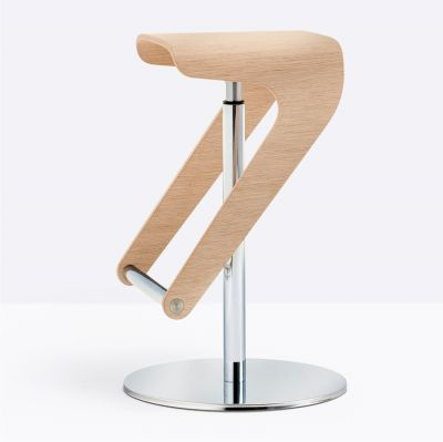 WOODY BAR STOOL NATURAL OAK PEDRALI