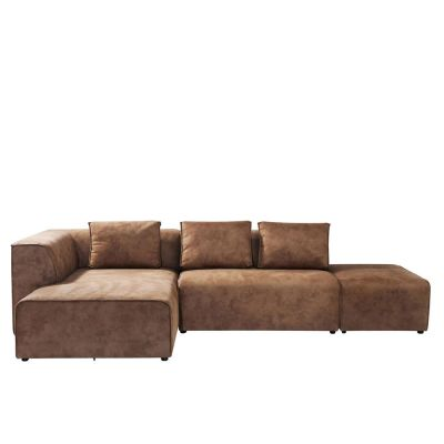 SOFA INFINITY ANTIQUE 24 OTTOMANE LINKS COGNAC KARE DESIGN