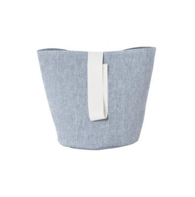 Chambray Basket Blue Small Ferm living