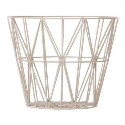METAL BASKET LIGHT GREY S FERM LIVING