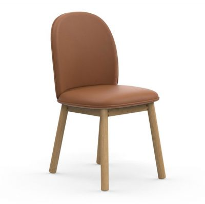 ACE UPHOLSTERED NATURAL LEATHER BRANDY CHAIR NORMANN COPENHAGEN