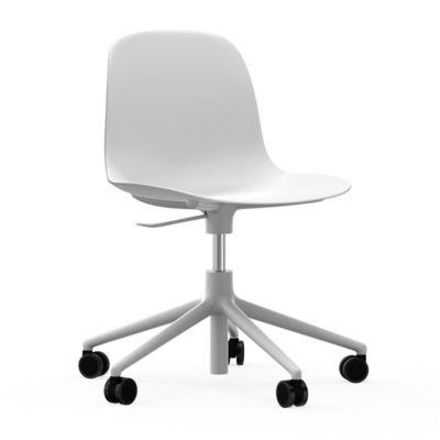 Form Chair Swivel 5W Gaslift White Alu White NORMANN COPENHAGEN