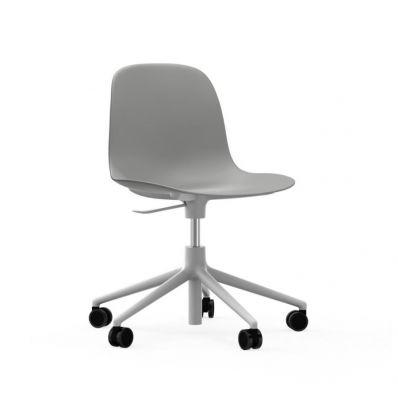 Form Chair Swivel 5W Gaslift White Alu Grey normann copenhagen