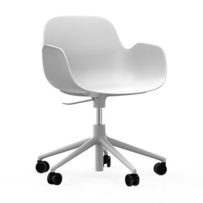FORM WITH ARMS WHITE BASE WHITE OFFICE CHAIR NORMANN COPENHAGEN