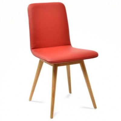 OAK CHAIR GLOS UPHOLSTERED LEATHER
