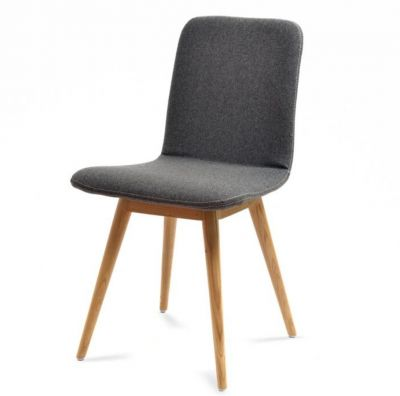 OAK CHAIR GLOS UPHOLSTERED FABRIC