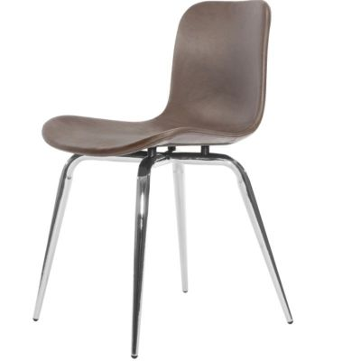 CHAIR LANGUE AVANTGARDE METAL CHROME-BROWN SKIN NORR 11