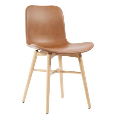 CHAIR LANGUE ORIGINAL NATURAL BEECH LEATHER CHAIR NORR 11